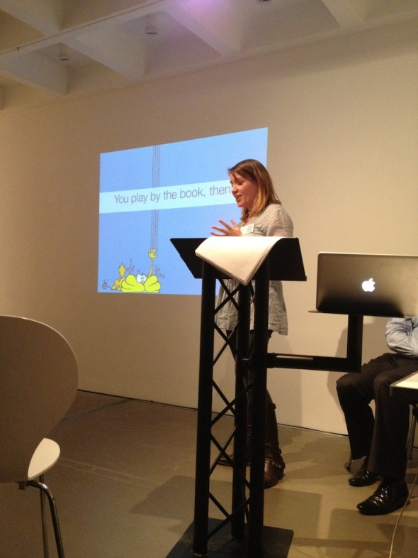 Liz Brewe speaking at Vision Bristol